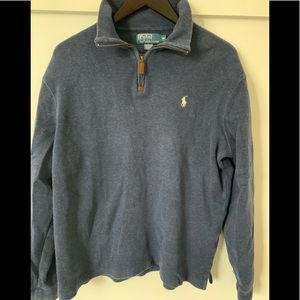 Navy Polo zip up sweater